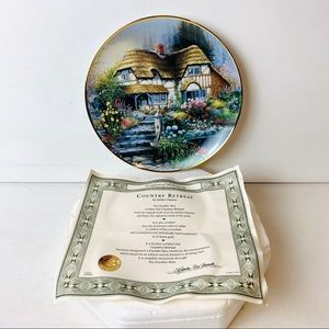Franklin Mint Andres Orpinas Country Retreat Plate